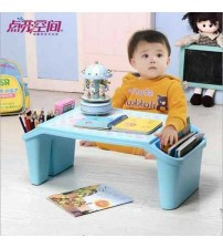 Children Plastic Small Study Table With Storage Lap Laptop Desk For Kids and Adult