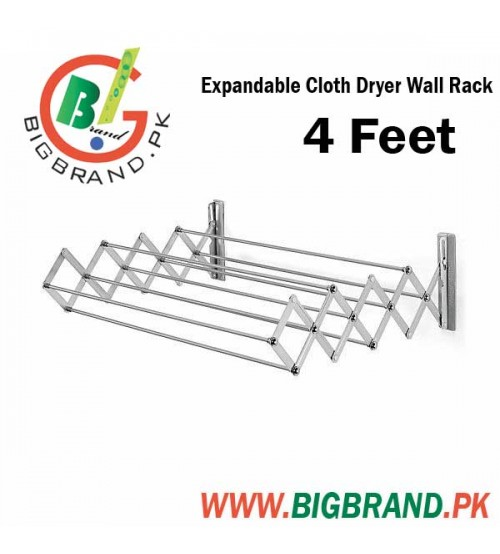 Expandable Cloth Dryer Wall Rack 4 Feet