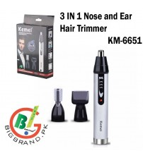 Rechargeable 3 IN 1 Nose and Ear Hair Trimmer KM-6651