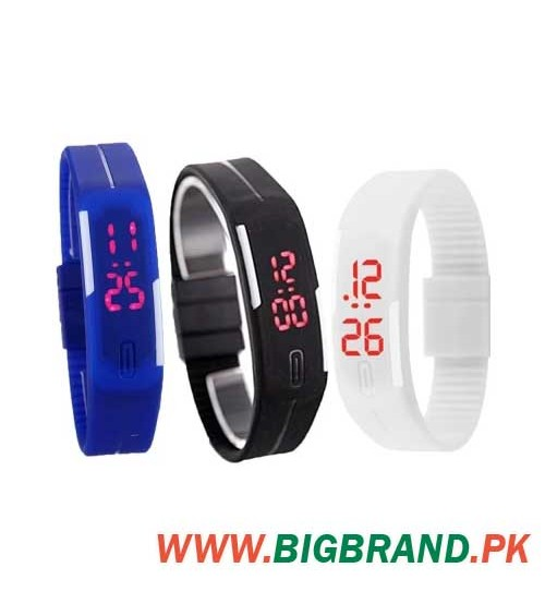 Pack of 3 LED Watches