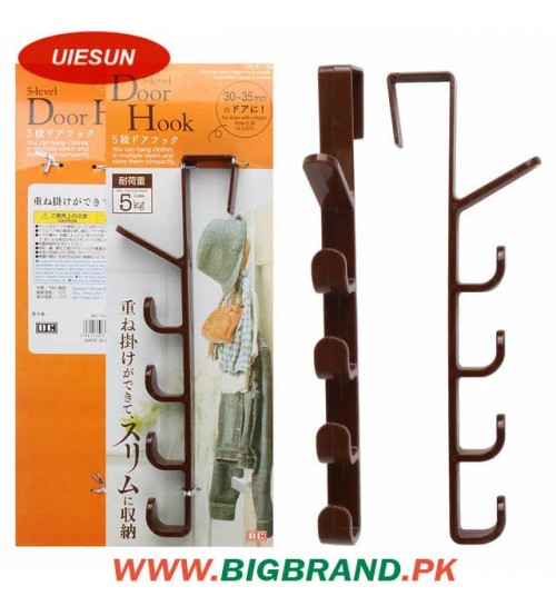 5 Hooks Wall Door Hook Hanger Living Room