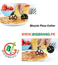 Bike Shaped Pizza Slicer Cutter with Stainless Steel Blade