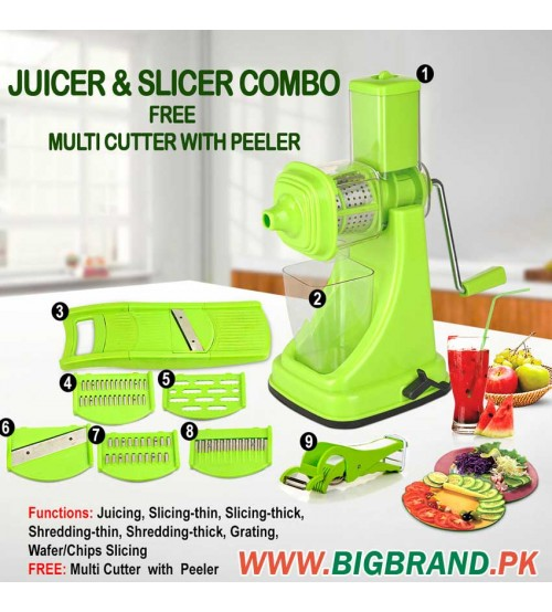 Juicer And Slicer Combo
