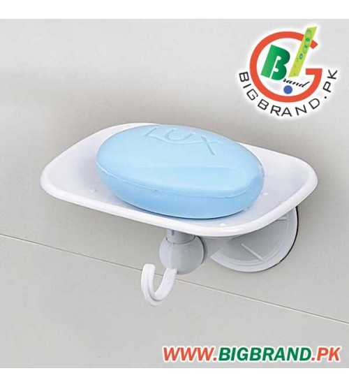Suction Soap Dish Holder With Towel Hanger
