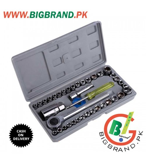 Aiwa 40 Pcs Combination Socket Wrench Tool Kit