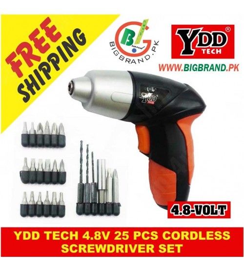 YDD Tech 4.8V 25 Pcs Cordless Screwdriver Set