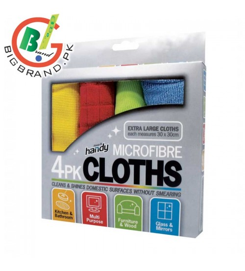 4 Pcs Microfiber Cloths for Cleaning