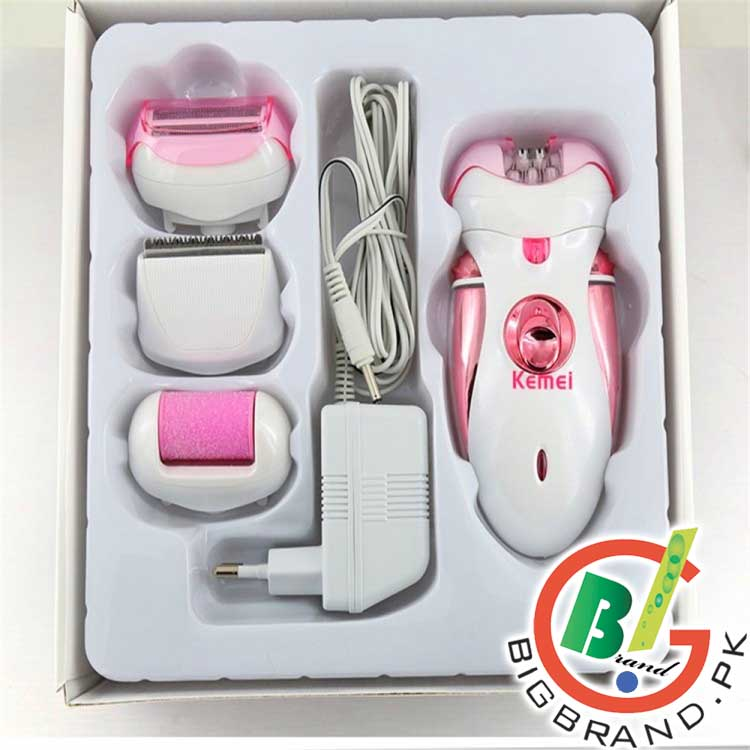 Kemei 4in1 Rechargeable Hair Removal Lady Shaver Km 2530